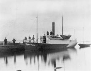 Mail Steamer Postiljonen which went into service on the route Grisslehamn - Eckerö in the 1870s.